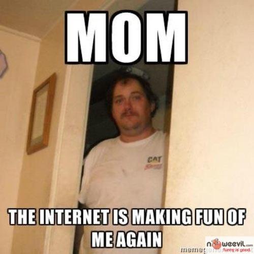 internet making fun of  me
