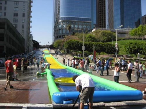 massive water slide
