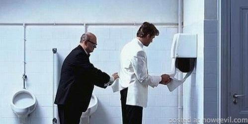 porter in bathroom