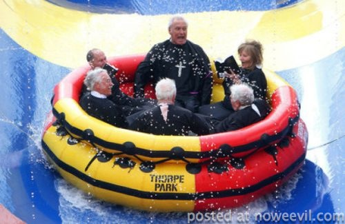 priests in a tube
