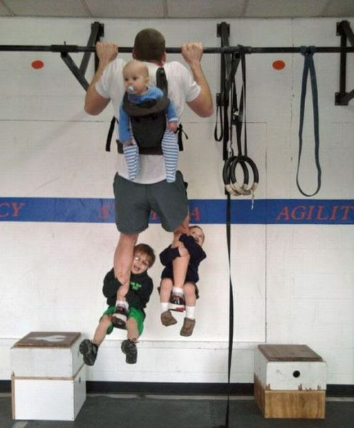 pullups with kids