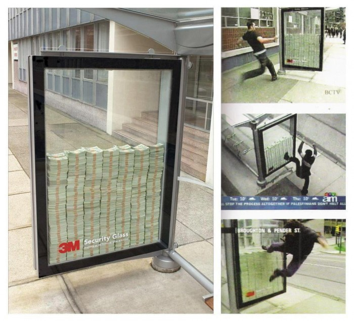 security ad glass