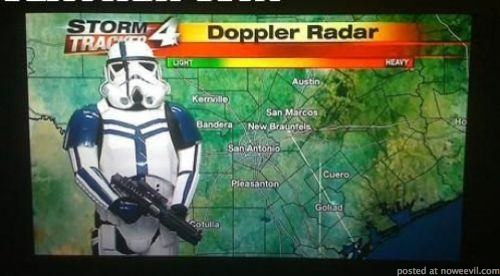 storm troopers weather man