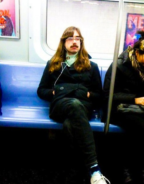 weird man on subway