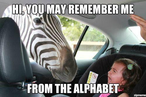 alphabet zebra