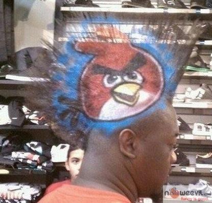 angry birds hair