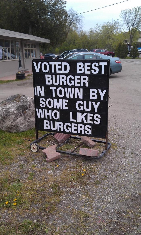 best burger sign