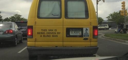 blind man van