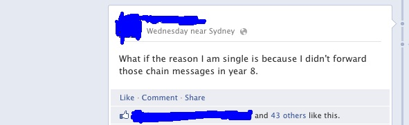 chain letter facebook