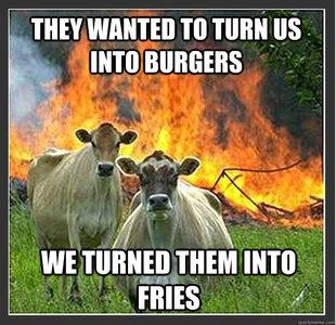 fries cows meme