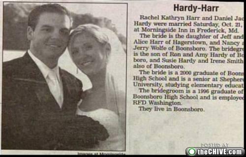 hardy harr wedding