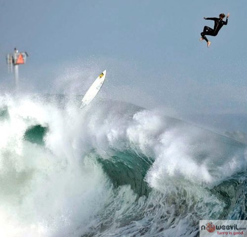high surfer jump