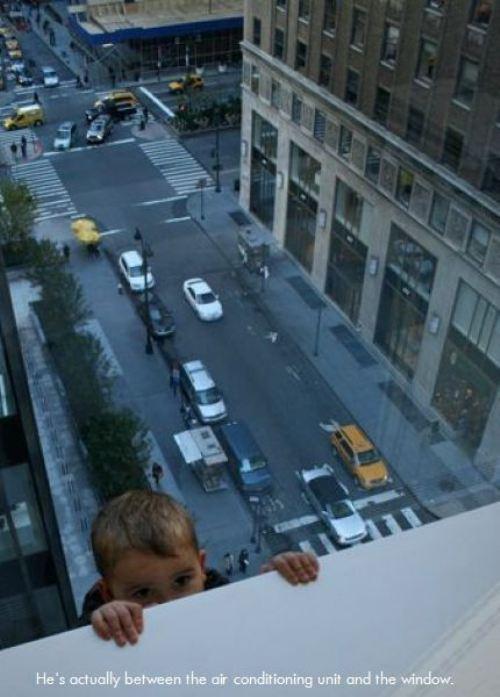 kid on balcony