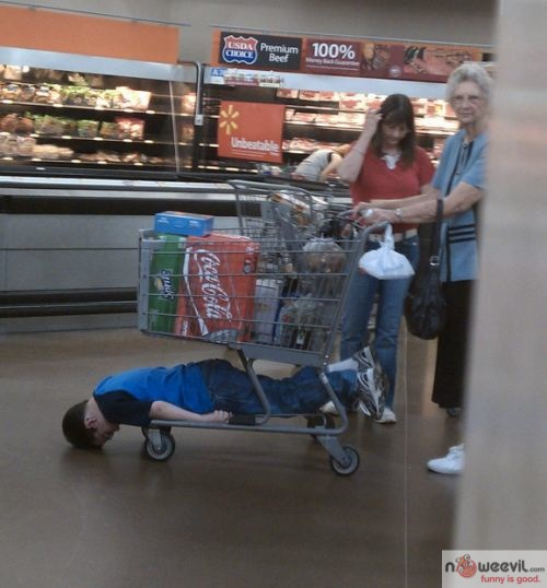 kid planking on cart 2