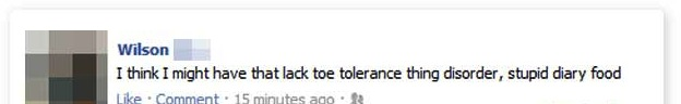 lack toe tolerance facebook