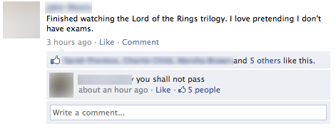 lord of the rings facebook