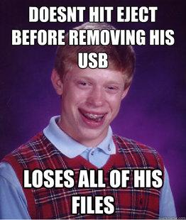 loses files