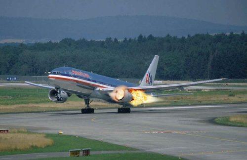 planes burning