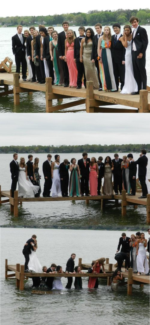 prom on dock