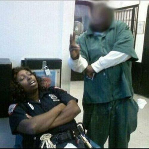 sleeping hospital guard