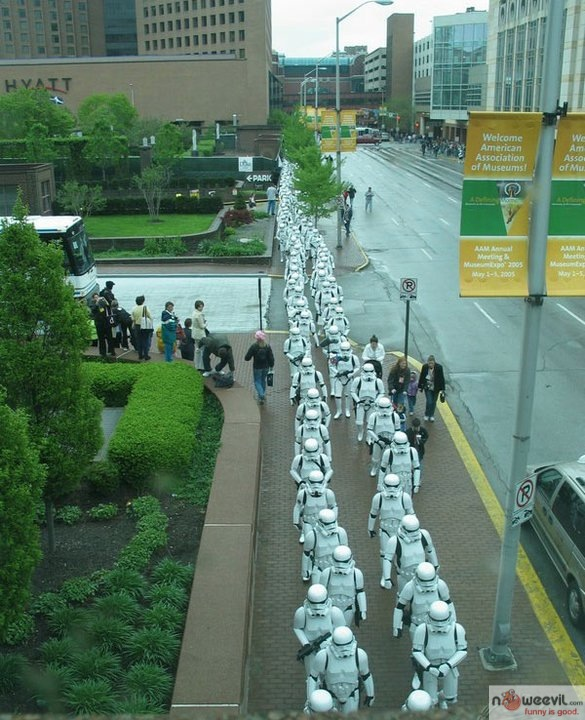 storm trooper walking
