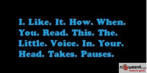 voice takes pauses