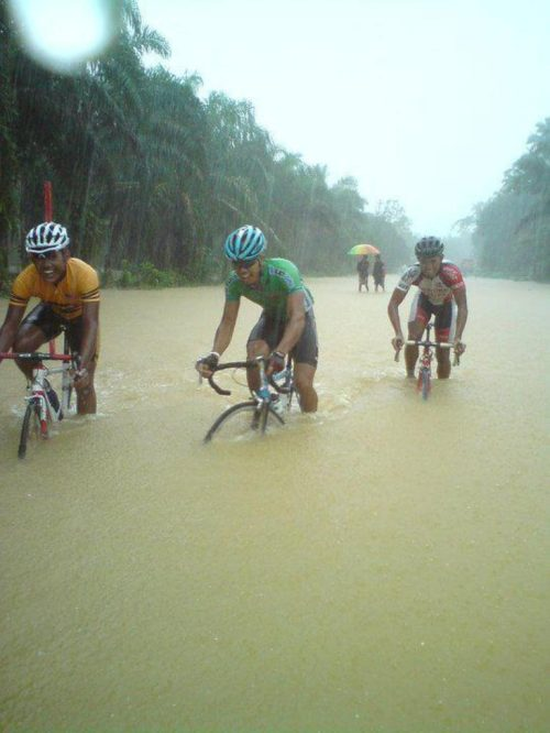 bike and water