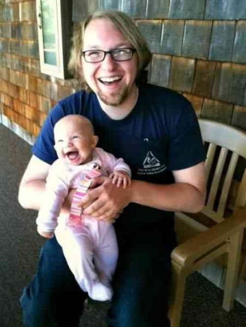 lauging baby