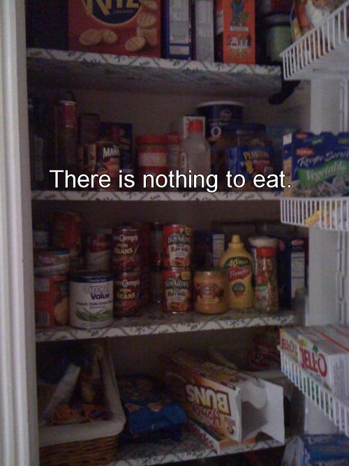 nothing to eat