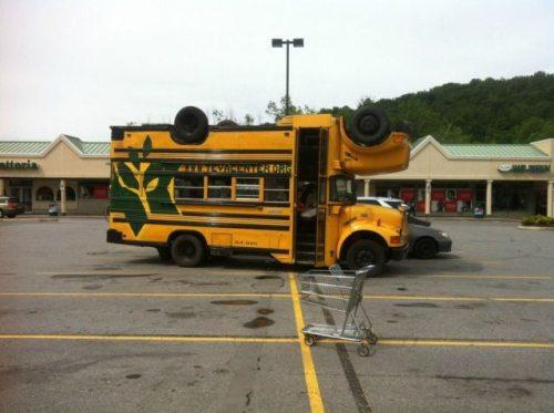school bus weird