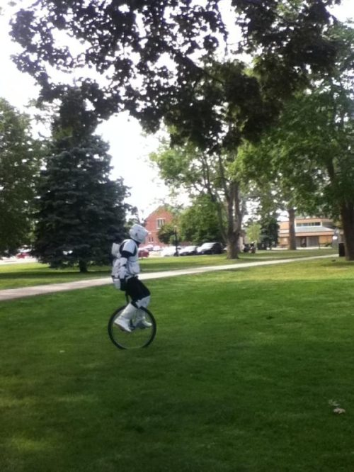 storm trooper unicycle