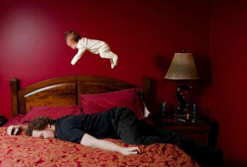 baby bouncing