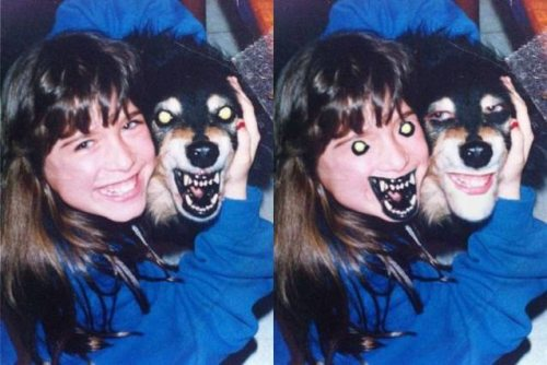 creepy dog