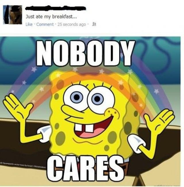 nobody cares facebook