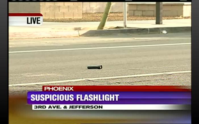 suspicious flashlight