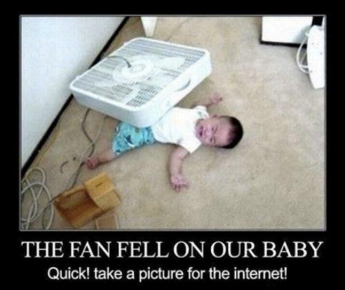 fan on baby